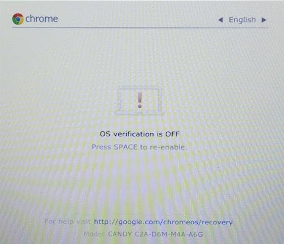 Dell Chromebook 11 3120 OS Verification Off Screen